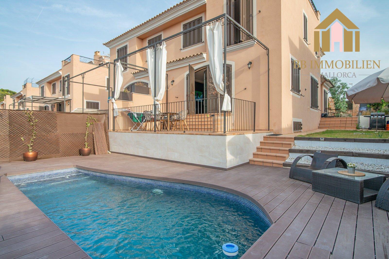 Puig de Ros Doppelhaushälfte mit Pool und Garten Nähe Palma